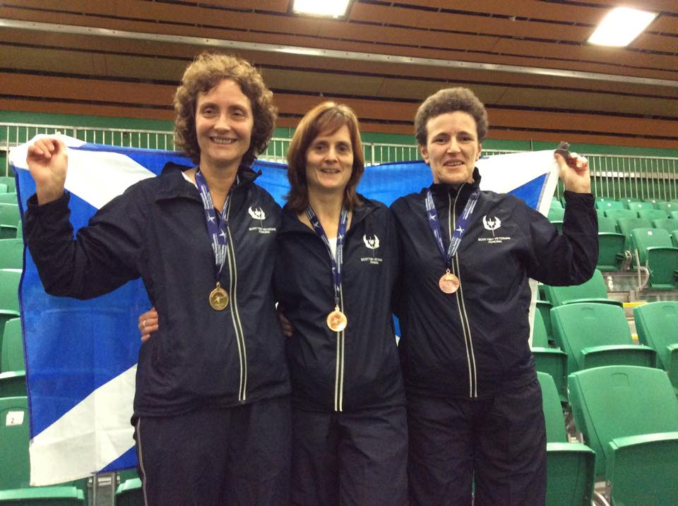Scottish Women's Foil Team - Bronze medal winners